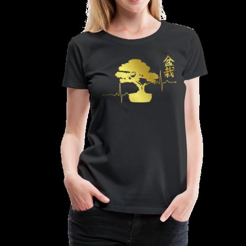 Bonsai Shirt Bonsai Tree Heartbeat t-shirt Gift - Women's Premium T-Shirt