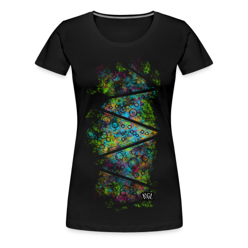 Colorful lines and circles - Women's Premium T-Shirt