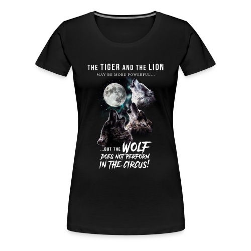 Wolves and Moon - Women's Premium T-Shirt