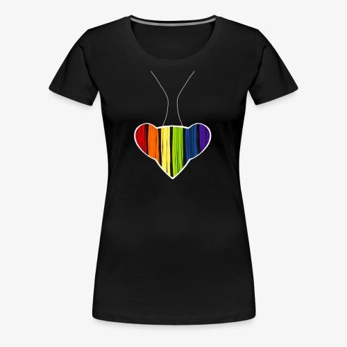 Rainbow Heart Mantis - Women's Premium T-Shirt