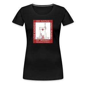 St Mark's Logo Dark Red - Women's Premium T-Shirt