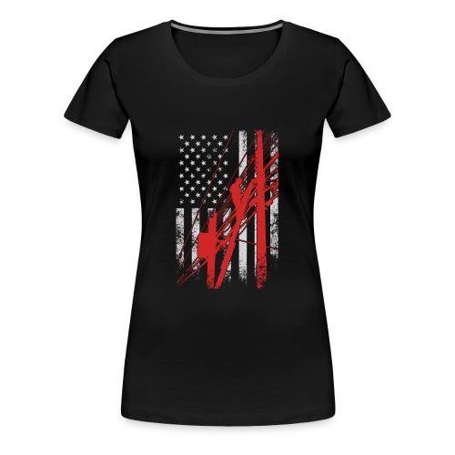 LINEMAN FLAG - Women's Premium T-Shirt