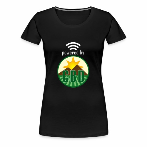Powered By CBD - White - Women's Premium T-Shirt