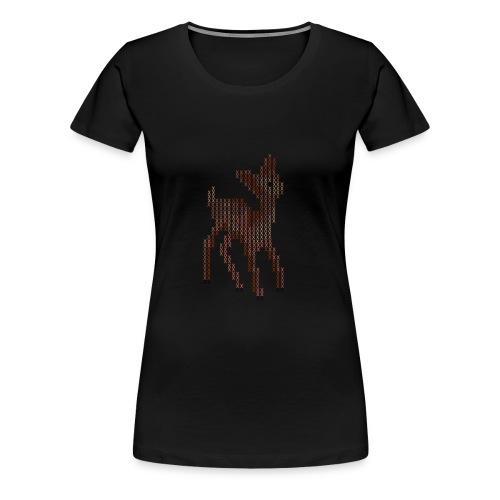 Cross Stitch Little Deer - Women's Premium T-Shirt