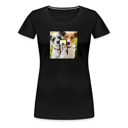 Dogs & Phone - Women's Premium T-Shirt