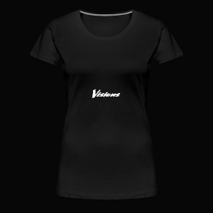 Visions white on black tees and hoodies - Women's Premium T-Shirt