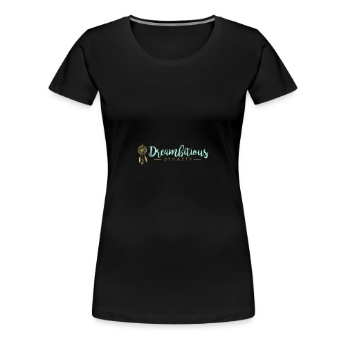 Dreambitious-Dynasty-Logo-MintGold_-1- - Women's Premium T-Shirt