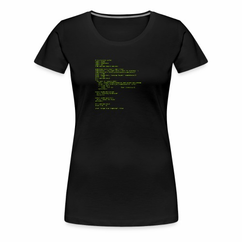 Python Code 1 - Women's Premium T-Shirt