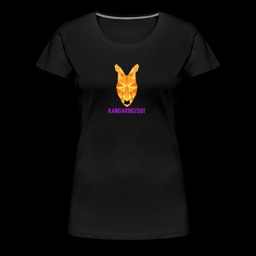 Kangaroozoo1 Logo & Name - Women's Premium T-Shirt