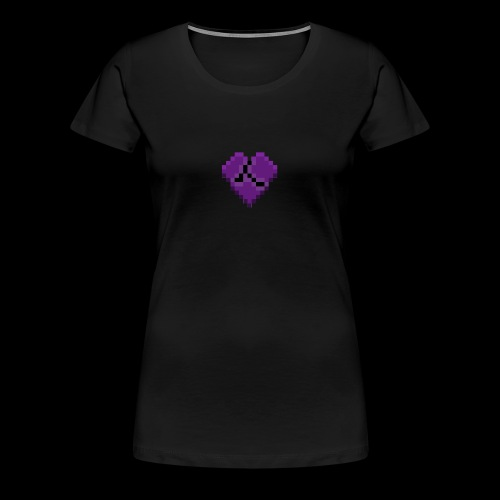 Pixel Purple Broken Heart - Women's Premium T-Shirt