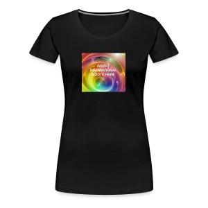 Insert rainbow here - Women's Premium T-Shirt