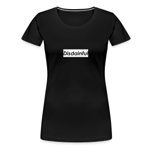 Distainful black letters - Women's Premium T-Shirt