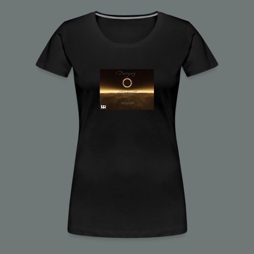 Dannysong Eclipse design Love's Not Dead - Women's Premium T-Shirt