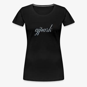 AJ Park written signature logo - Women's Premium T-Shirt