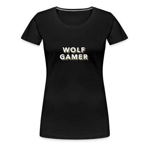 Wolf Gamer - Women's Premium T-Shirt
