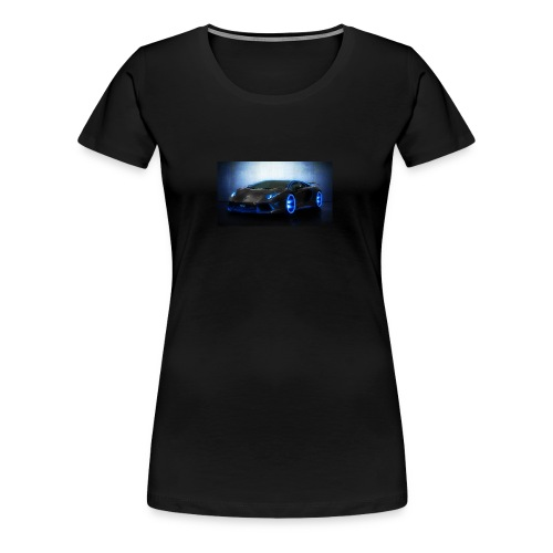 lamborghini black back ground - Women's Premium T-Shirt
