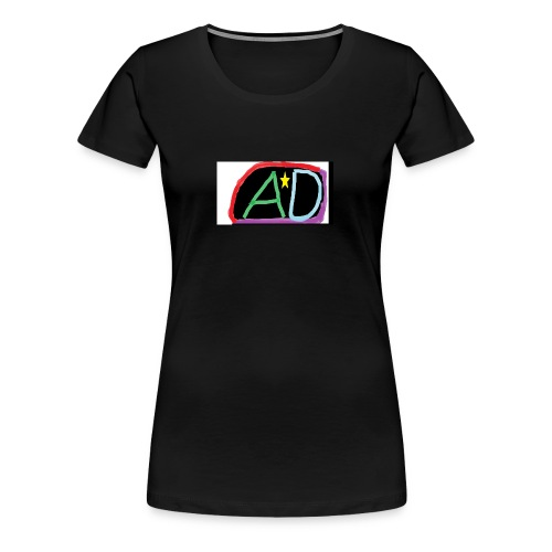 ANMOL AND DANIEL LOGO BLACK - Women's Premium T-Shirt
