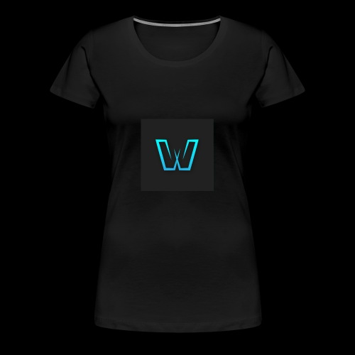 DoubleU Black Non-Transparent - Women's Premium T-Shirt