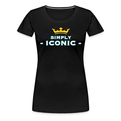 Brian Justine Pre Simply Iconic Logo - Women's Premium T-Shirt