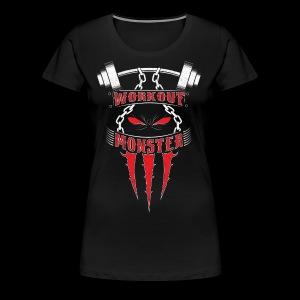 Workout Monster - Women's Premium T-Shirt