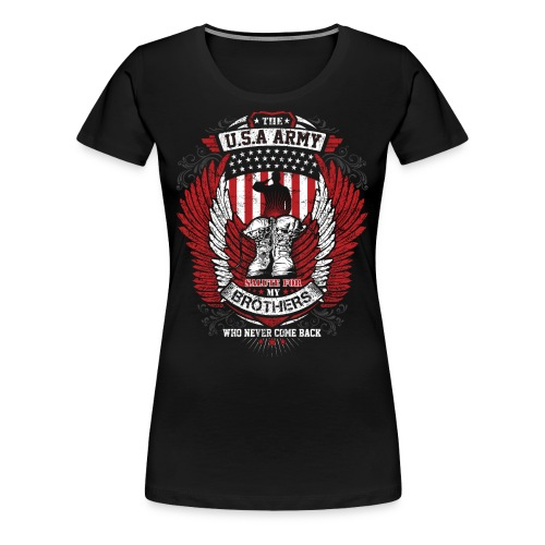 U.S.A Army T-shirt Salute For Usa Army - Women's Premium T-Shirt
