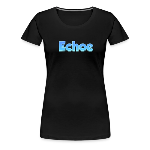Echoe's Text Logo - Women's Premium T-Shirt