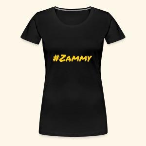 Gold #Zammy - Women's Premium T-Shirt