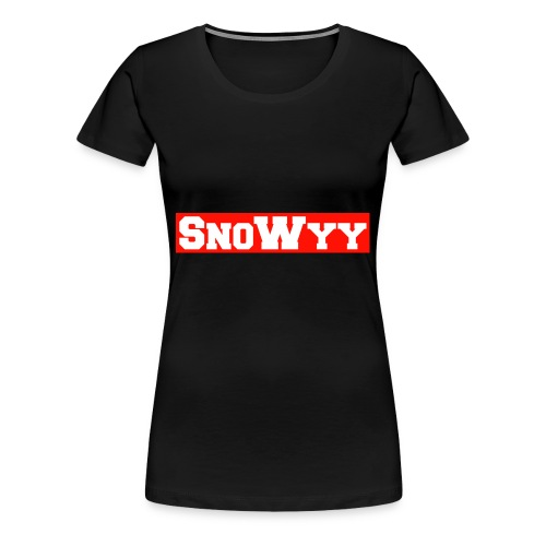 Red/White SnoWyy - Supreme Like Style - Women's Premium T-Shirt