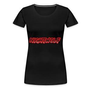 T-Shirt with Nightwolf Logo - Women's Premium T-Shirt