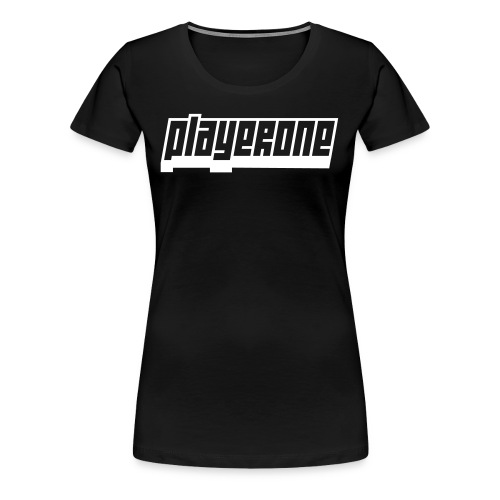playerone logo white - Women's Premium T-Shirt