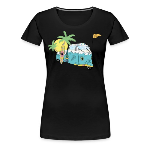 Vis - Surf Bus - Women's Premium T-Shirt