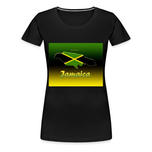 Jamaica map t shirt - Women's Premium T-Shirt