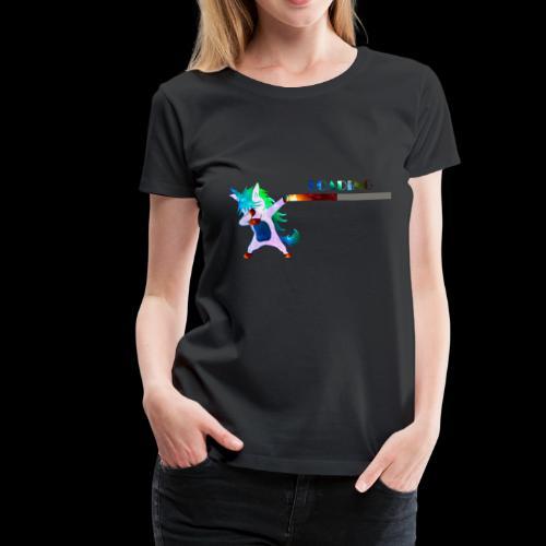Dabbing unicorn still Loading - Women's Premium T-Shirt
