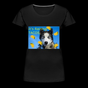 Husky and Taco Rain - Women's Premium T-Shirt