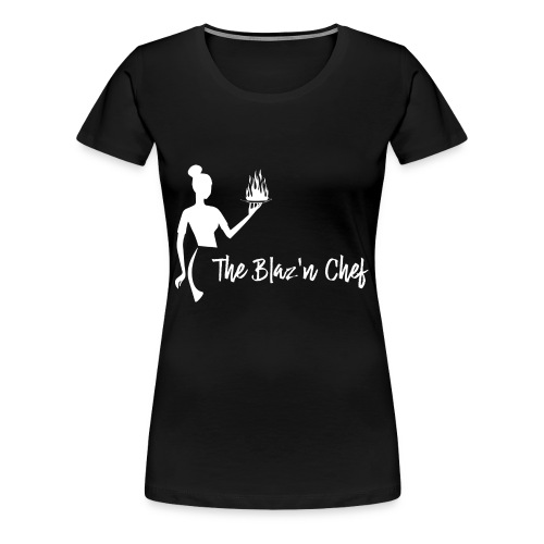 LOGO WHITE without Plant - Women's Premium T-Shirt