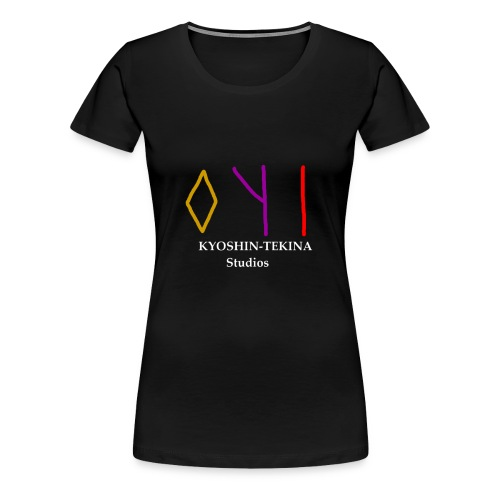 Kyoshin-Tekina Studios logo (white text) - Women's Premium T-Shirt