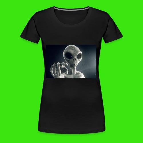 Show me De wey to De UFO - Women's Premium T-Shirt