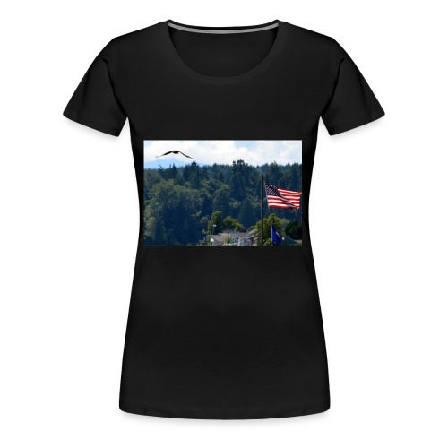 Flag and Eagle - Women's Premium T-Shirt