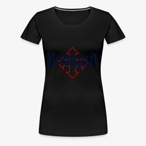 Deviiant blk center outl - Women's Premium T-Shirt