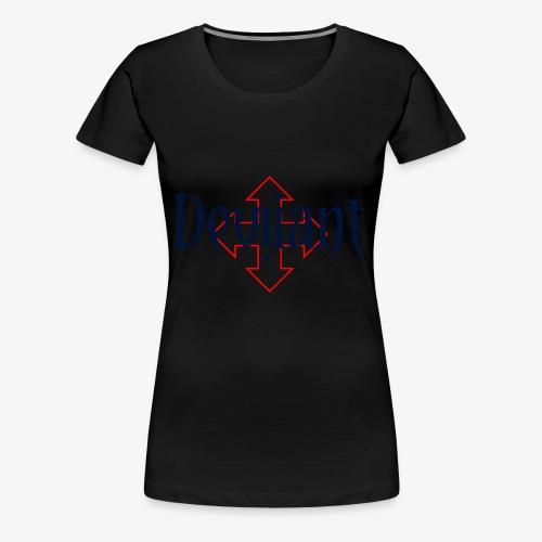 Deviiant blk center outl - Women's Premium T-Shirt