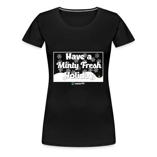 Minty Fresh Holidays - Women's Premium T-Shirt