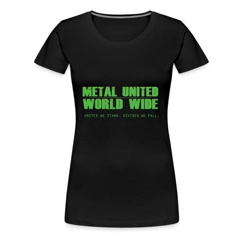 Metal United World Wide (green) - Women's Premium T-Shirt