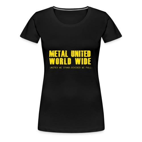 Metal United World Wide (yellow) - Women's Premium T-Shirt