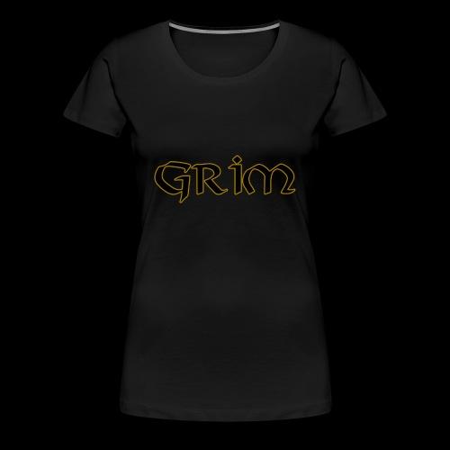 Grim Gold edge black interior - Women's Premium T-Shirt