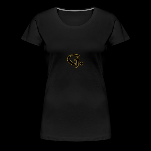 Black G with Gold Edges - Women's Premium T-Shirt