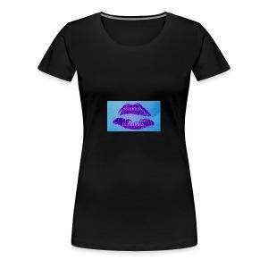 Goddess Moon Pulishing Puple Lipstick Logo - Women's Premium T-Shirt