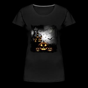 Halloween Pumpkin Castle - Women's Premium T-Shirt