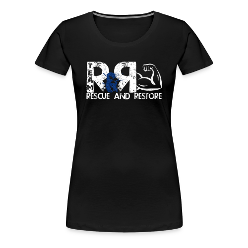 Team Rescue & Restore Blue Logo - Women's Premium T-Shirt