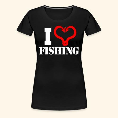 I heart fishing WHITE - Women's Premium T-Shirt