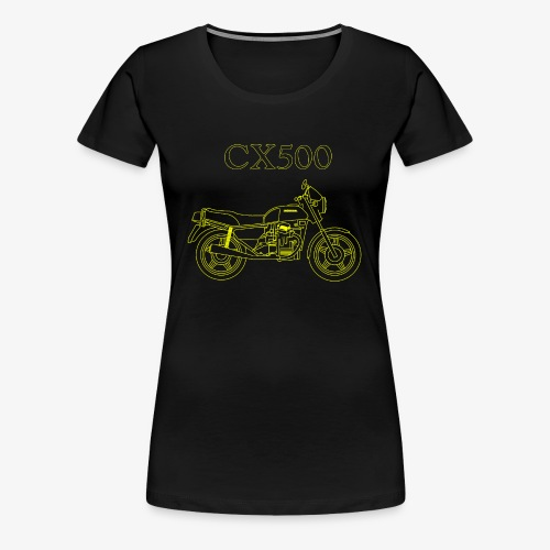 CX500 line drawing - Women's Premium T-Shirt